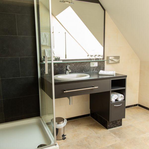 Das Reinisch Hotel Business Apartments Badezimmer Doppelzimmer